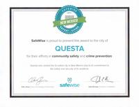 Award for Safest City